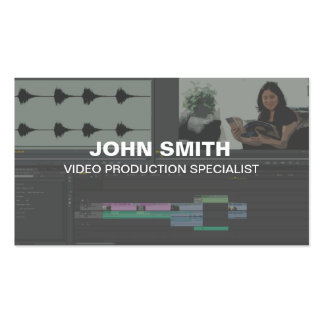 Tarjetas de visita del editor de vídeo