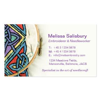 Tarjetas de visita del Embroiderer/de la costura