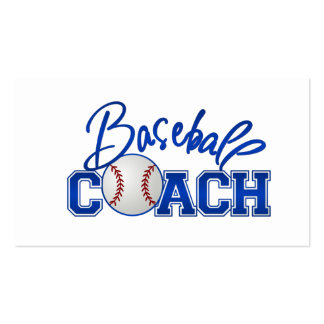 Tarjetas de visita del entrenador de béisbol