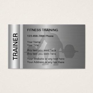 Tarjetas de visita del entrenamiento de la aptitud