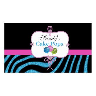 tarjetas de visita del estallido de la torta