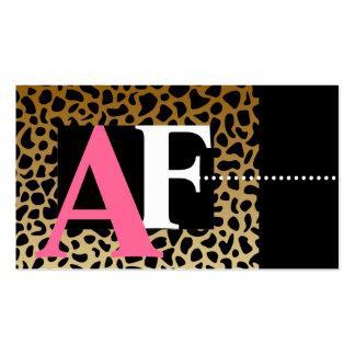 Tarjetas de visita del estampado leopardo