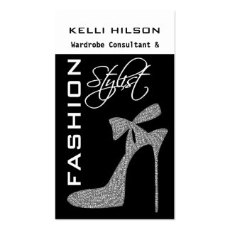 Tarjetas de visita del estilista de la moda