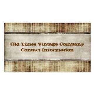 Tarjetas de visita del estilo del vintage