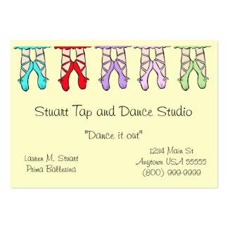Tarjetas de visita del estudio de la danza