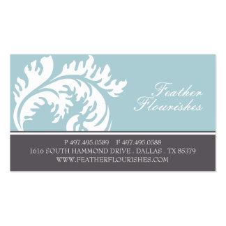 Tarjetas de visita del Flourish de la pluma