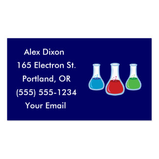 Tarjetas de visita del frasco de la ciencia