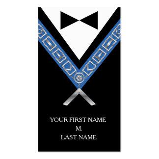 Tarjetas de visita del Freemasonry - tarjeta
