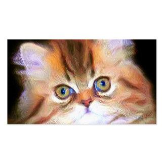 Tarjetas de visita del gatito del Tabby