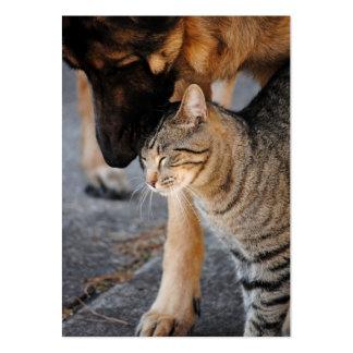 Tarjetas de visita del gato de los mejores amigos