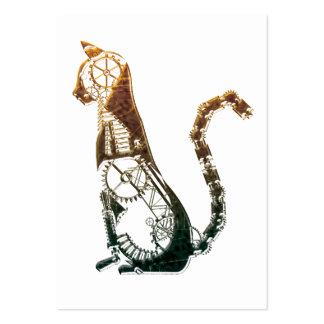 Tarjetas de visita del gato de Steampunk