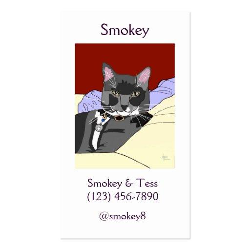 Tarjetas de visita del gato de Tuxie