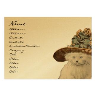 Tarjetas de visita del gato del gatito del vintage