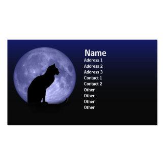 Tarjetas de visita del gato negro