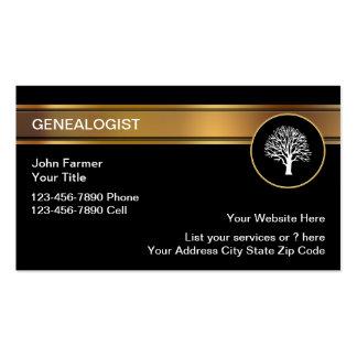 Tarjetas de visita del Genealogist