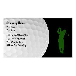 Tarjetas de visita del golf