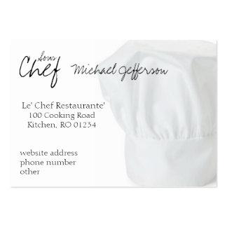 Tarjetas de visita del gorra del cocinero
