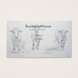 Tarjetas de visita del granjero del dibujo de
