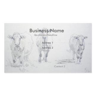 Tarjetas de visita del granjero del dibujo de lápi