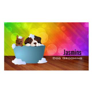 Tarjetas de visita del Groomer del perro