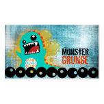 Tarjetas de visita del Grunge del monstruo