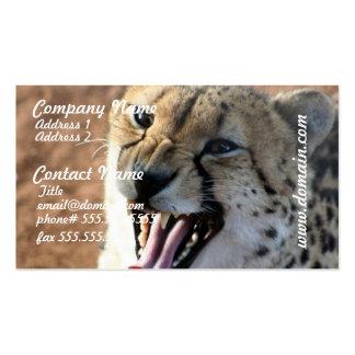 Tarjetas de visita del gruñido del guepardo