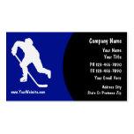 Tarjetas de visita del hockey