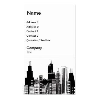 Tarjetas de visita del horizonte de Chicago