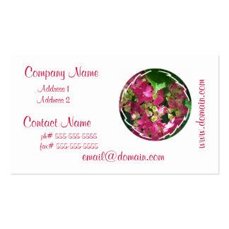 Tarjetas de visita del Hydrangea de las rosas fuer