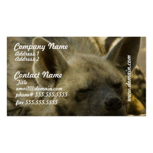 Tarjetas de visita del Hyena el dormir