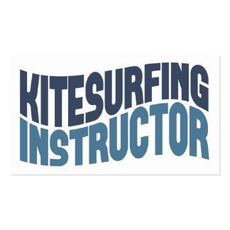 Tarjetas de visita del instructor de Kitesurfing