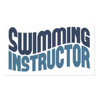 Tarjetas de visita del instructor de la natación