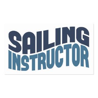 Tarjetas de visita del instructor de la navegación