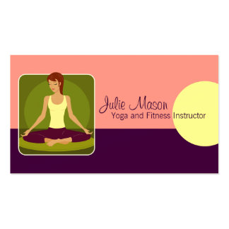 Tarjetas de visita del instructor de la yoga