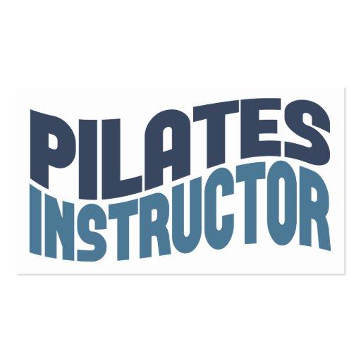 Tarjetas de visita del instructor de Pilates