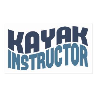 Tarjetas de visita del instructor del kajak