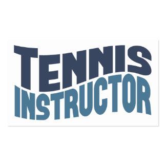 Tarjetas de visita del instructor del tenis