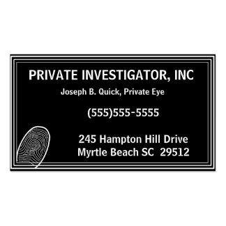 Tarjetas de visita del investigador privado