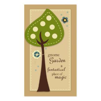 Tarjetas de visita del jardín del gnomo