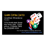 Tarjetas de visita del juego del póker