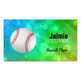Tarjetas de visita del jugador de béisbol