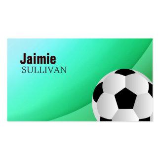 Tarjetas de visita del jugador de fútbol