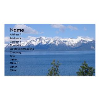 Tarjetas de visita del lago Tahoe California