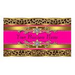 Tarjetas de visita del leopardo de las rosas fuert