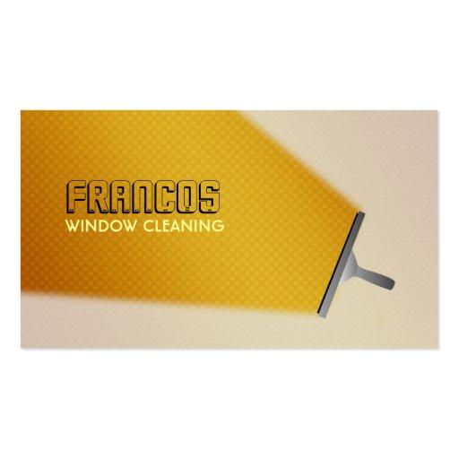 Tarjetas de visita del limpiador de ventana