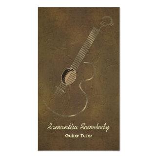 Tarjetas de visita del logotipo de la guitarra acú