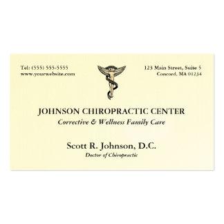 Tarjetas de visita del logotipo de la quiropráctic