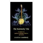 Tarjetas de visita del logotipo del banjo del Blue