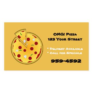 Tarjetas de visita del lugar de la pizza -