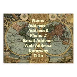 Tarjetas de visita del mapa de Viejo Mundo